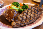 New York steak - Crema de calabaza con Thermomix