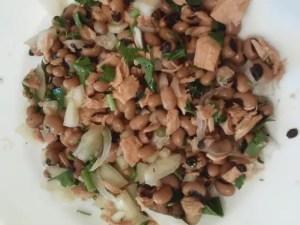 judias carillas con atún - Legumbres, potajes, guisos - tradicionales