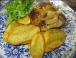 pollo asado al horno - Bizcocho de coco