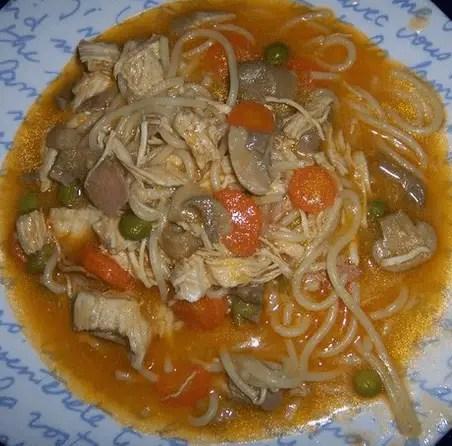 pollo con espaguettis - Pasta con pollo con Thermomix
