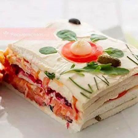 pastel de salmón y atún - Pastel o tarta salada de calabacín en Thermomix