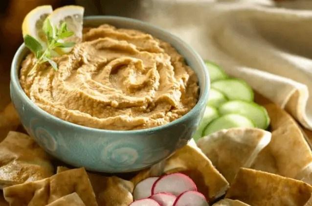dip de garbanzos - Receta de humus o hummus - como aprovechar garbanzos sobrantes
