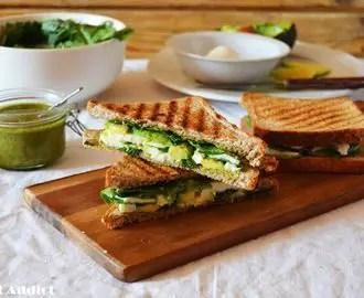 sandwich de requesón - Sandwich vegetal o grilled cheese sandwich