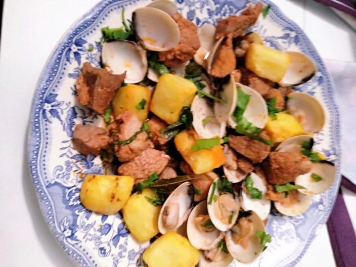 carne de cerdo con almejas 1024x768 - Carne de cerdo con almejas a la portuguesa