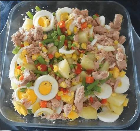 ensalada rusa a mi manera - Tortilla de patatas en Thermomix