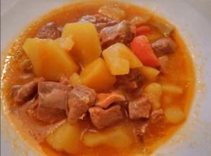 patatas con carne olla jrd - Recetas tradicionales de carne