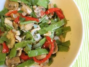 ensalada de judias verdes con bacalao - Recetas tradicionales de pescados y mariscos