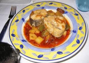 merluza con patatas - Pescados y mariscos con Thermomix
