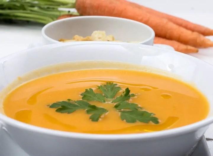 sopa zanahoria y apio - Crema de zanahoria - receta de Santa Santa en Portugal
