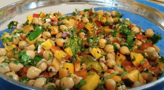 Ensalada agridulce de garbanzos - Reciclaje de comida - ensalada agridulce de garbanzos
