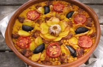 arroz al horno - Receta de paella o arroz al horno
