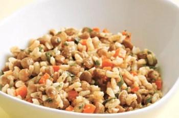 ensalada de lentejas con arroz - Ensalada de lentejas con arroz