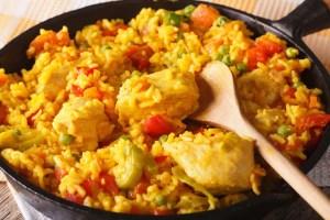 paella de pollo con verduras Thermomix - Arroz