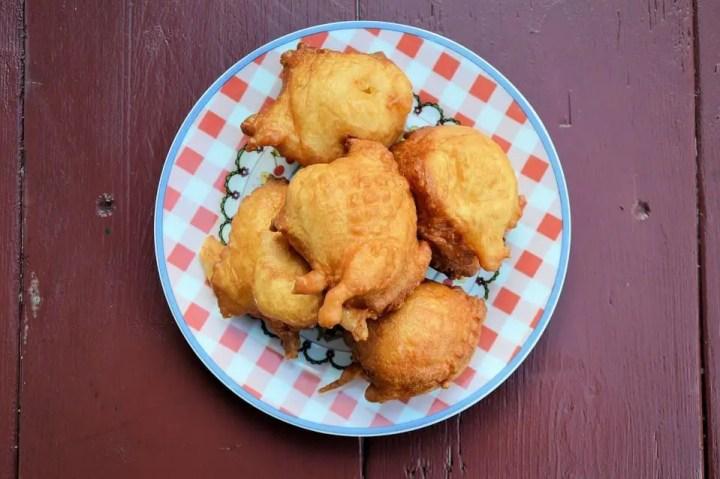 buñuelos de pescado - Pasteles o buñuelos de bacalao