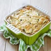 gratinado calabacin1 - Pastel de verduras gratinado con calabacín