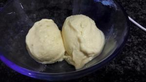 helado de mango y platano