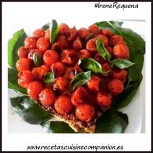 tarta salada de tomates cherri
