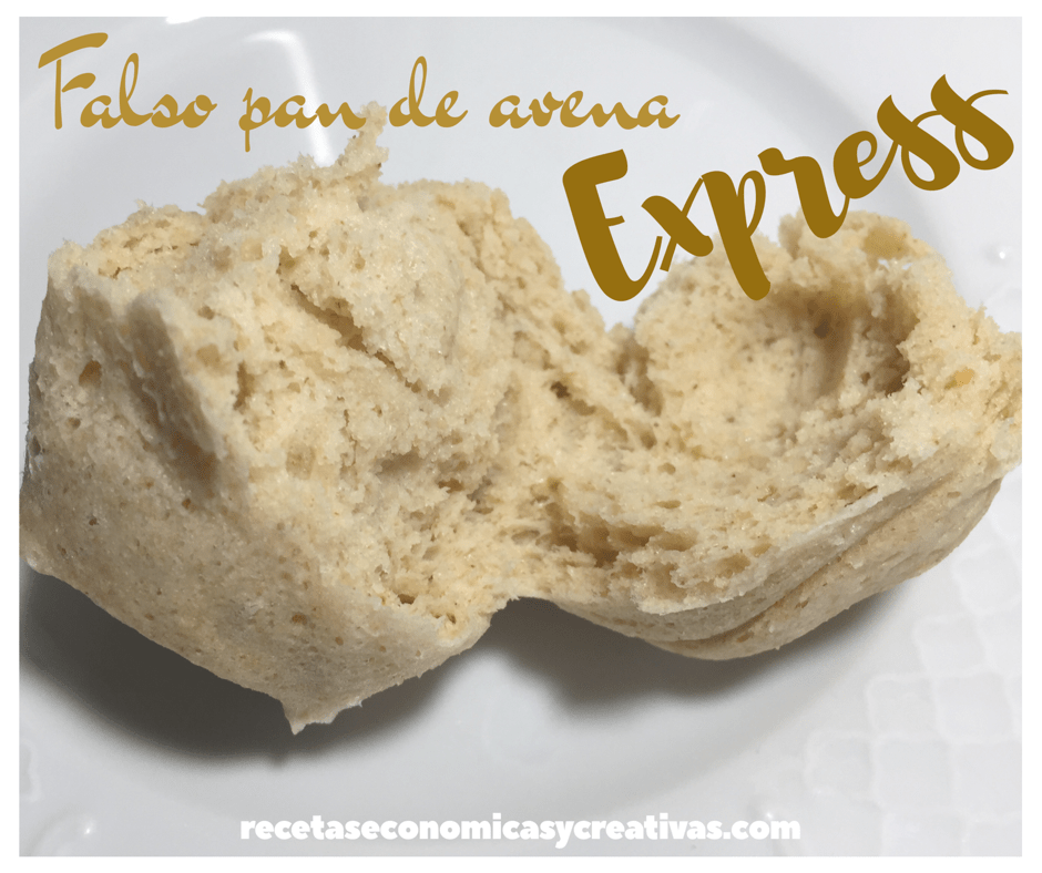 Falso pan de avena express