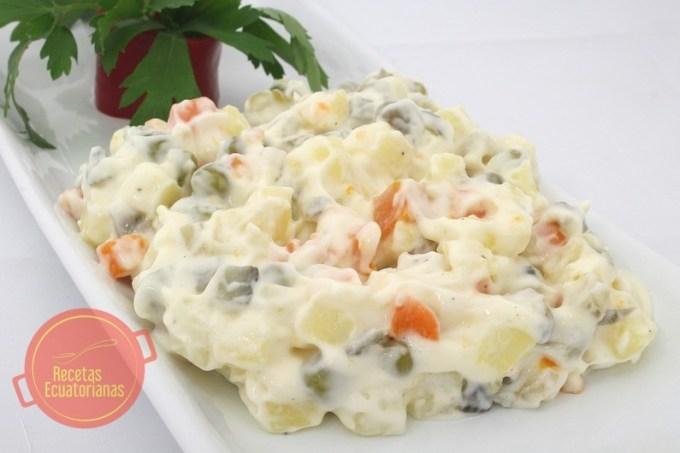 Receta ecuatoriana de la ensalada rusa