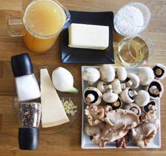 ingredientes risotto setas shiitake