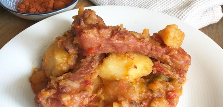Receta costillas adobadas con patatas