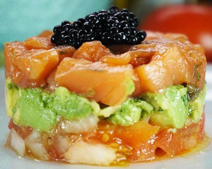 Tartar de salmón ahumado