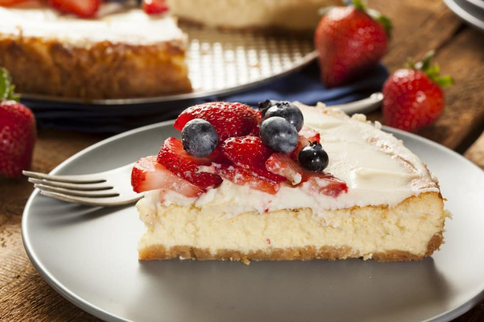 pastel de queso sano