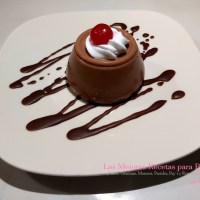 Postre de chocolate 3 ingredientes