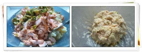 Masa de Croquetas de patata con Salmón