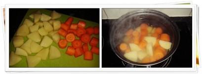 Patatas y Zanahorias cocidas