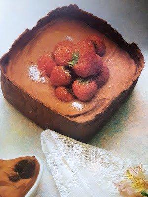 Fresas con chocolate-cajon
