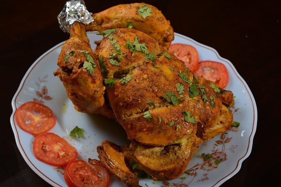 Pollo asado-receta casera
