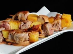 solomillo de cerdo con piña