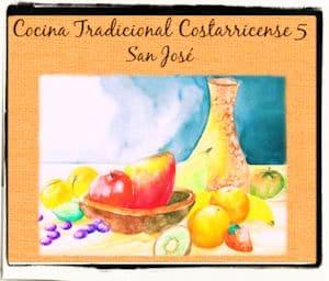 Recetario de cocina tradicional costarricense de San José