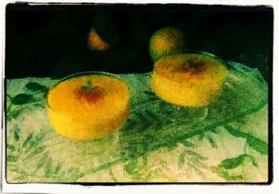 Postre de naranja
