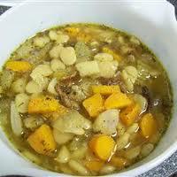 sopa de frijol lima