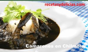 CAMARONES EN CHILMOLE