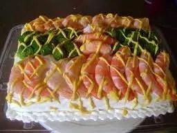 pastel de camaron
