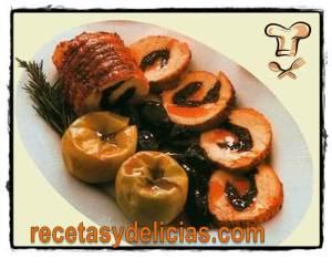 receta de lomo relleno en salsa de ciruela