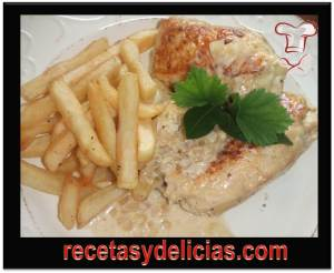 receta de pollo en salsa de cebolla