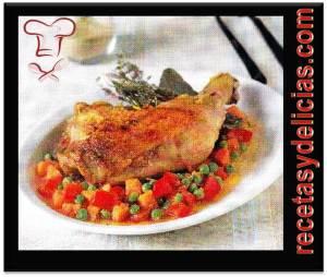 receta de pollo a la jardinera