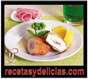 receta de pollo relleno de jamon