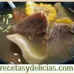 Receta de caldo Chocolomo
