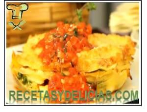 receta de lasagna de verduras
