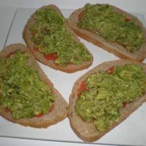 Pan con tomate y aguacata - ▷ Montaditos con salsa de cilantro y cominos al estilo Teresa 🥪