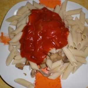 72d71c3e1a75301c5a2942cd172af179 - ▷ Pasta con champiñones coronada con salsa de bambú 🍝