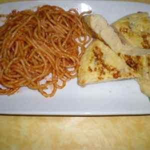52847945d34c24d045f4f6bfeae5a17d - ▷ Espaguetis con tomate y tortilla francesa 🍝