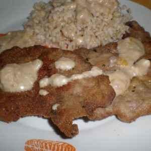 abc7c98b4ddfae4816b74e0d2fd932d2 - ▷ Escalopes de aguja con arroz integral regado de salsa blanca 🐖 🍚 🥣