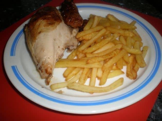 Pollo asado en jugo de mantequilla light