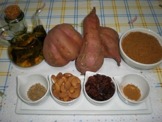 Ingredientes para el relleno de las truchas de batata
